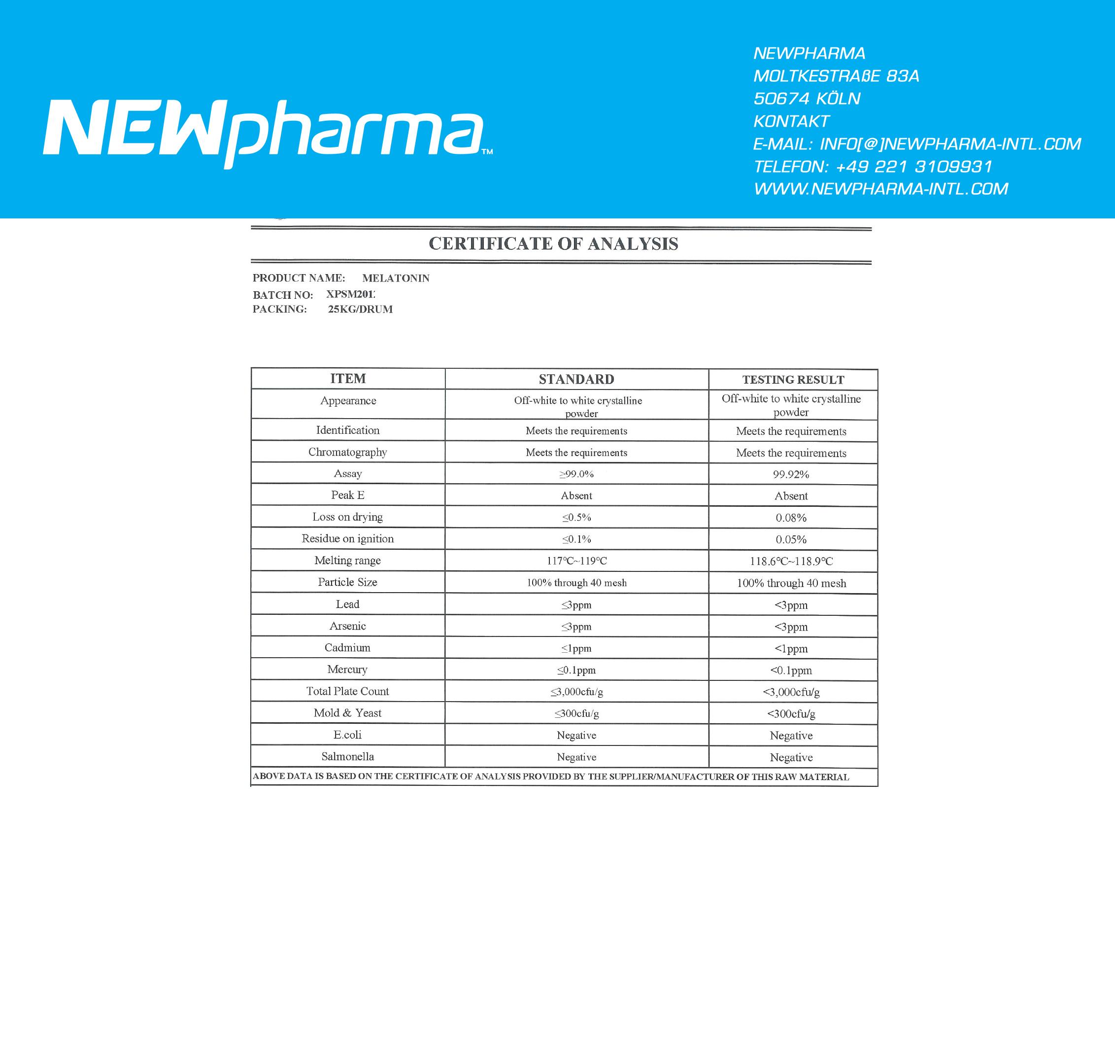 NEWPHARMA-melatonin