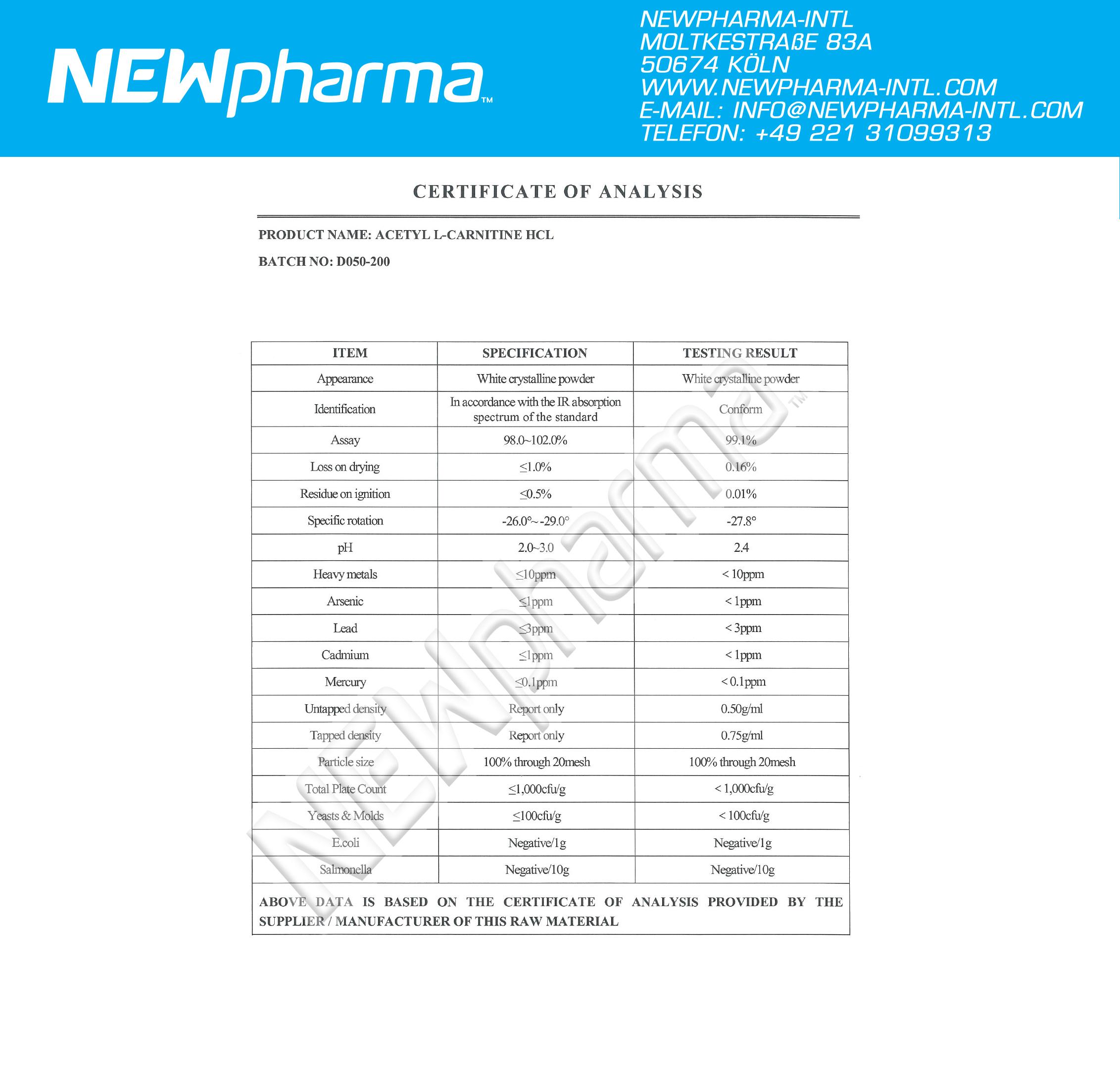 NEWPHARMA-Acetyl-L-CarnitinGZA4uXE85lPUU