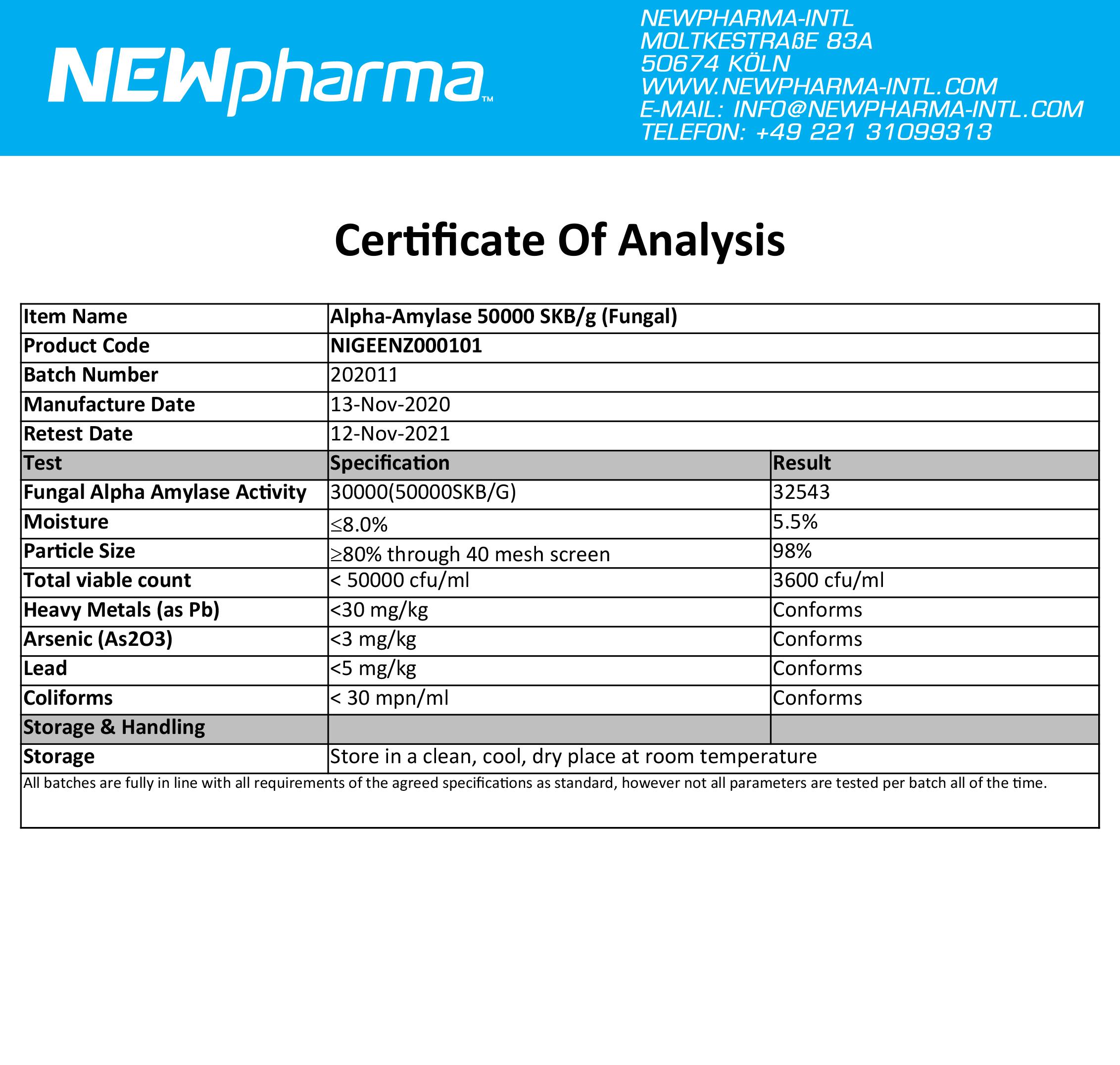 NEWPHARMA-Alpha-Amylase-5000